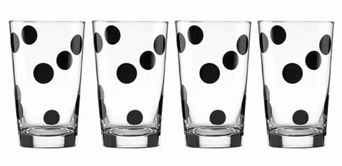 Kate Spade  Deco Dot 4-piece All-Purpose Glass Set $40.00