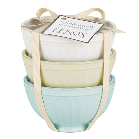 Lenox French Perle Groove 3-piece Mini Bowl Set $18.00