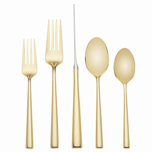 Kate Spade  Malmo Gold Flatware 5 Pc Place $100.00