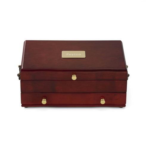 $120.00 Personalizable  Mahogany/Dior Red Jewelry Box
