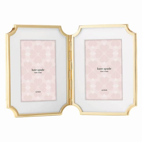 Kate Spade  Sullivan Street Gold Hinged Double Frame $125.00