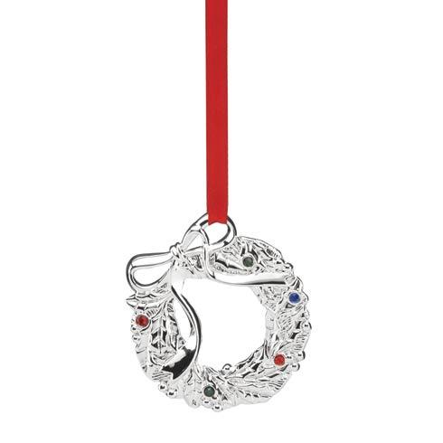 $7.95 Jeweled Silver Wreath Charm