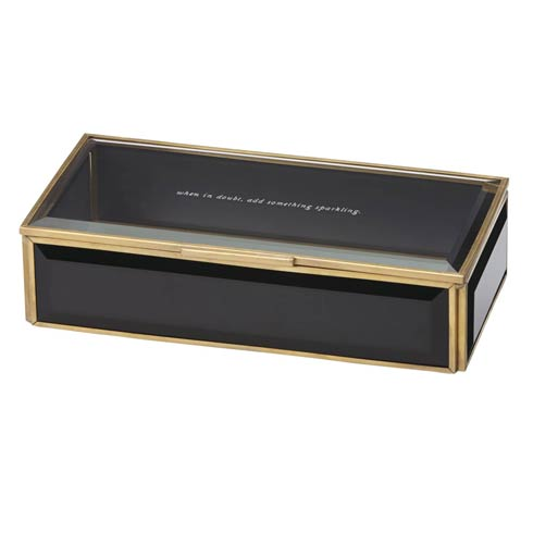 Out of Box Glass Jewelry Box - Black collection with 1 products