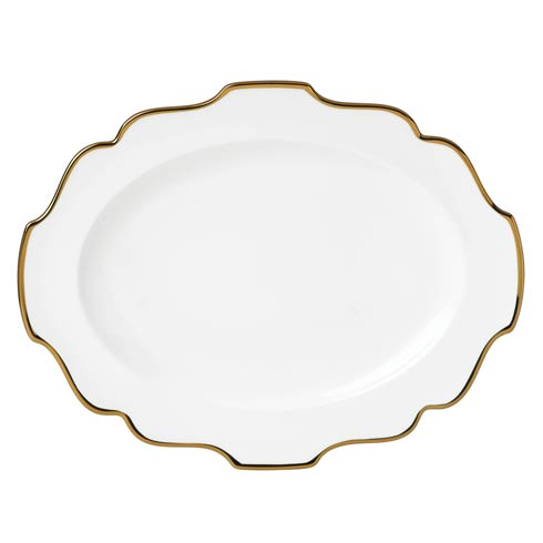 """Lenox Contempo Luxe Gold 16"""" Oval Serving Platter $99.95"""