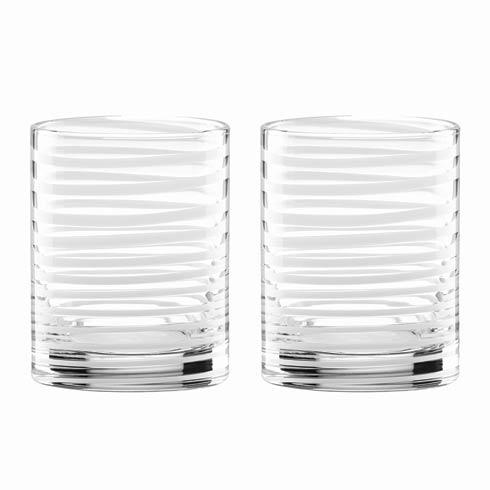 Kate Spade  Charlotte Street 2-piece DOF Glass Set, White $40.00