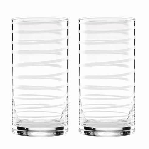Kate Spade  Charlotte Street 2-piece Hiball Glass Set, White $40.00