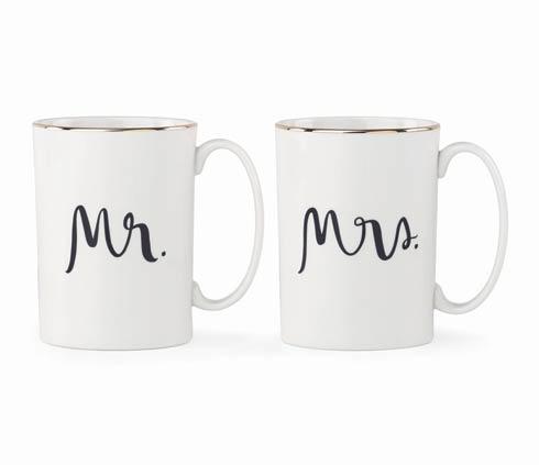 "Kate Spade  Bridal Party ""Mr. & Mrs."" Mug Set $40.00"