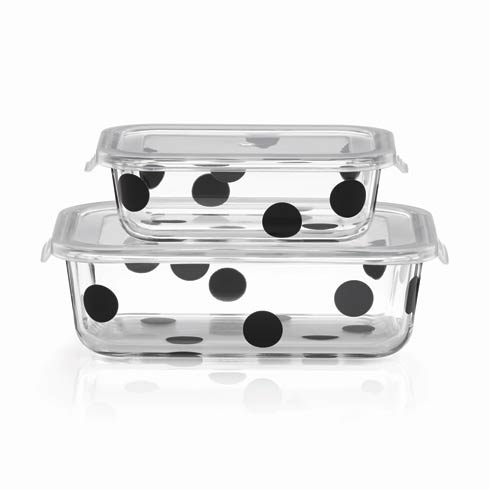 Kate Spade  Deco Dot Rectangular Dish with Lid, Set of 4 $24.99