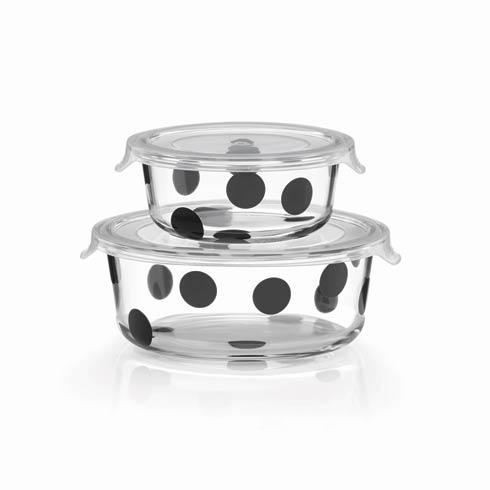 Kate Spade  Deco Dot 2-piece Round Food Storage Set $30.00