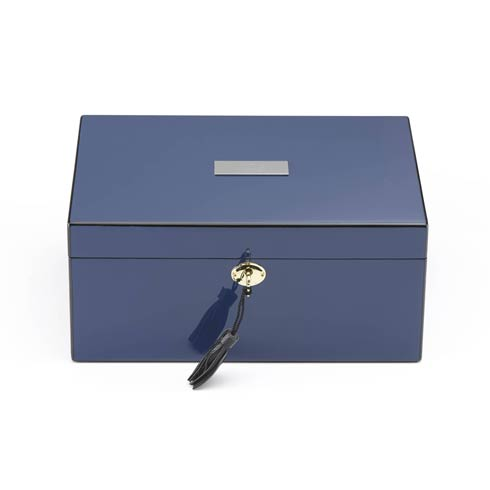 $210.00 Personalizable Navy Jewelry Box