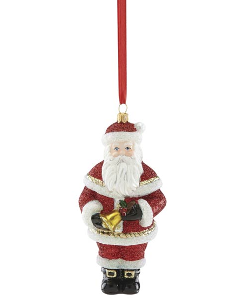 Santa With Bell Ornament