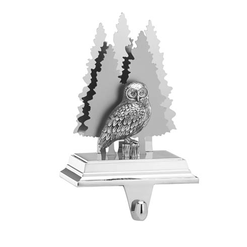 Snow Owl Stocking Holder