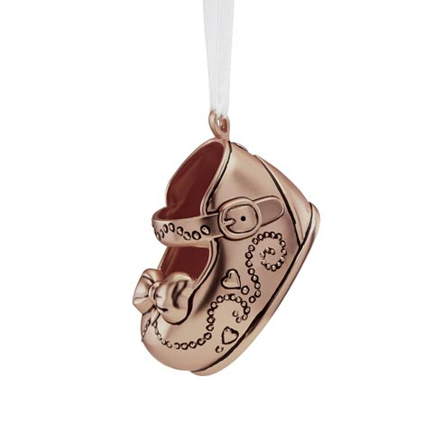 $50.00 Girls Baby Shoe Ornament