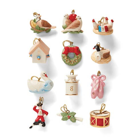 Lenox  Ornaments Twelve Days of Christmas 12pc Holiday Ornament Set $79.95