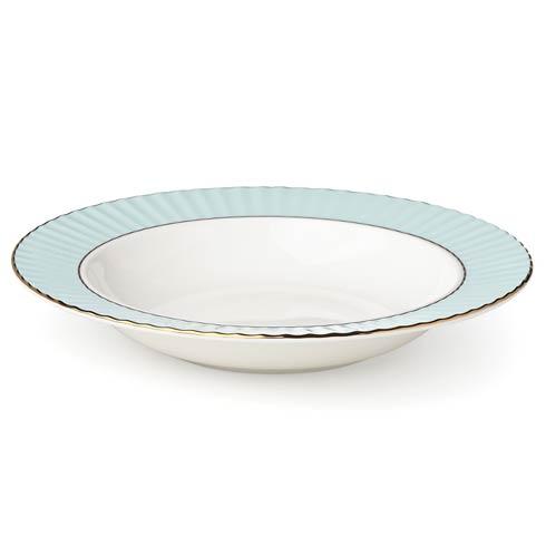 Lenox Pleated Colors Aqua Pasta/Rim Soup Bowl $20.95