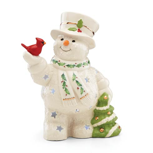 $29.95 Happy Holly Days Snowman Lit Figurine