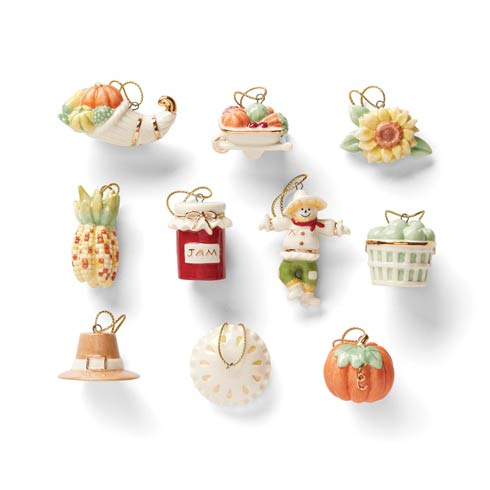 $79.95 Autumn Favorites 10 Piece Ornament Set