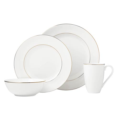 Lenox Continental Dining Gold 4pc Place Setting $89.95