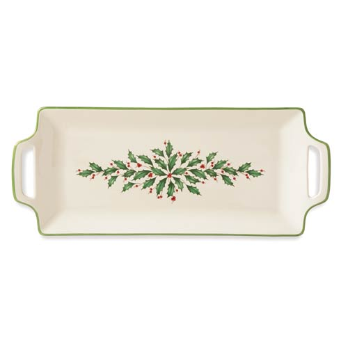 Lenox  Holiday Handled Hors D\'oeuvres Tray $80.00