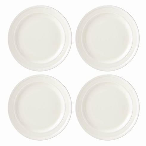 Kate Spade Sculpt Stripe Cream Dinner Plates, Set of 4 $60.00