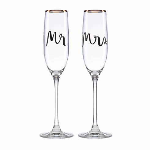 Kate Spade  Bridal Party 2-piece Champagne Flute $60.00