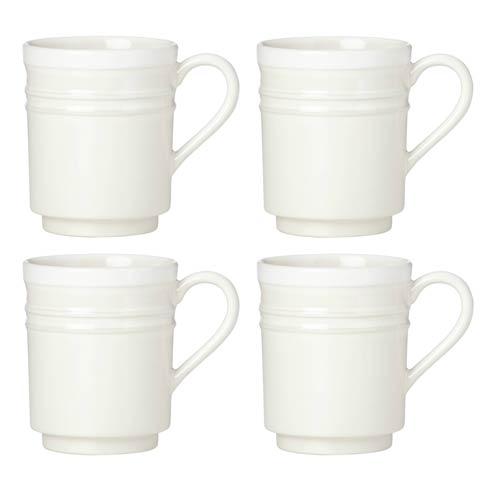 Kate Spade Sculpt Stripe Cream Mugs, Set of 4 $40.00