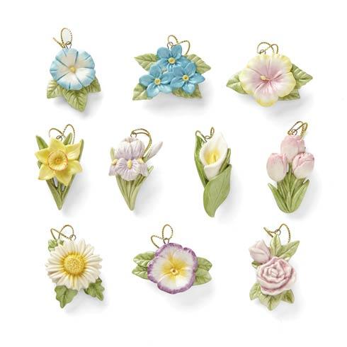 $79.95 Celebrate Flowers 10-piece Ornament Set