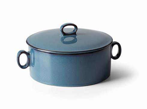 $72.00 Nordic Blue Round Casserole with Lid
