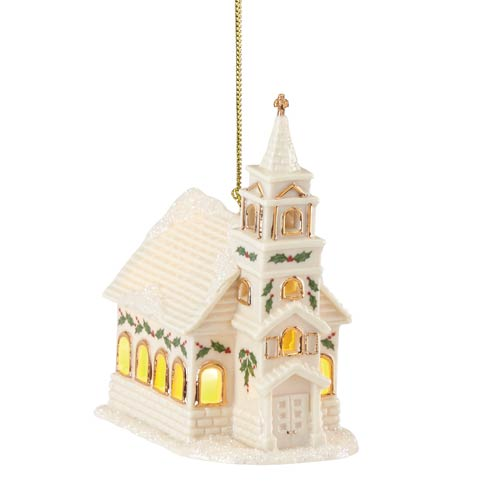 $29.95 Christmas Village Church Lighted Ornament