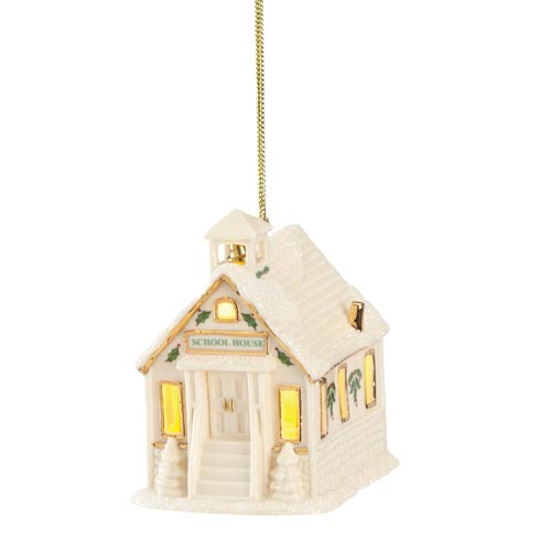 $29.95 Christmas Village Schoolhouse Lighted Ornament