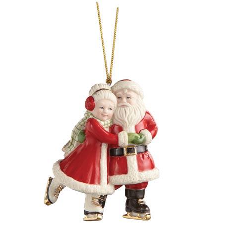 $32.95 Ice Skating Santa And Mrs. Claus Ornament
