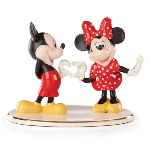 $99.95 Mickey And Minnie Two Hearts As One
