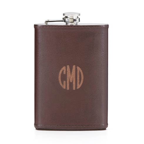 $50.00 Personalizable Leather Flask