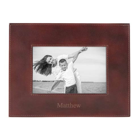$70.00 Personalizable Leather Frame 4X6