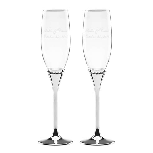 $60.00 Personalizable Flute Set of 2