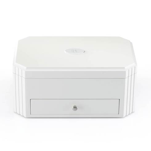 $210.00 Personalizable White Jewelry Box