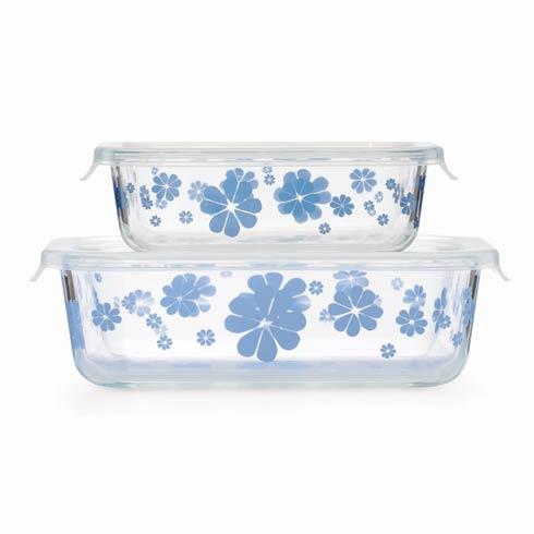 $30.00 Glass Storage Rectangular Dish, Set of 2