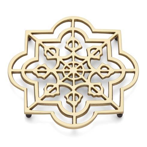 Lenox Global Tapestry Gold Quatrefoil Trivet $19.95