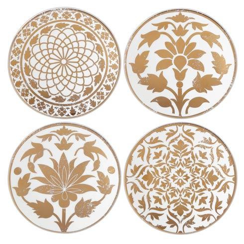 Lenox Global Tapestry Gold 4pc Assorted Tidbit Plates $49.95