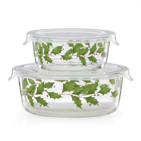 Lenox  Hosting the Holidays Glass Storage Bowls, Set of 2 $50.00