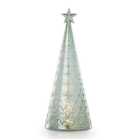$49.95 Wintery Woods Lit Glass Holly Tree