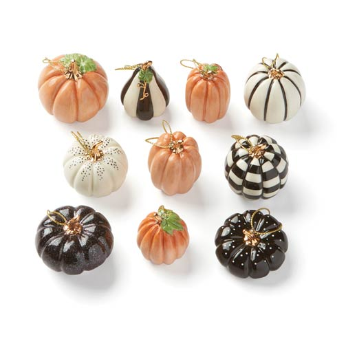 $79.95 Mini Pumpkin 10-piece Ornament Set