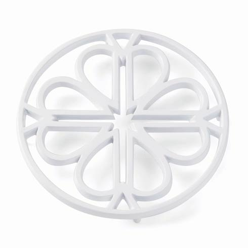 Kate Spade  Spade Flower Metal Trivet - White $20.00