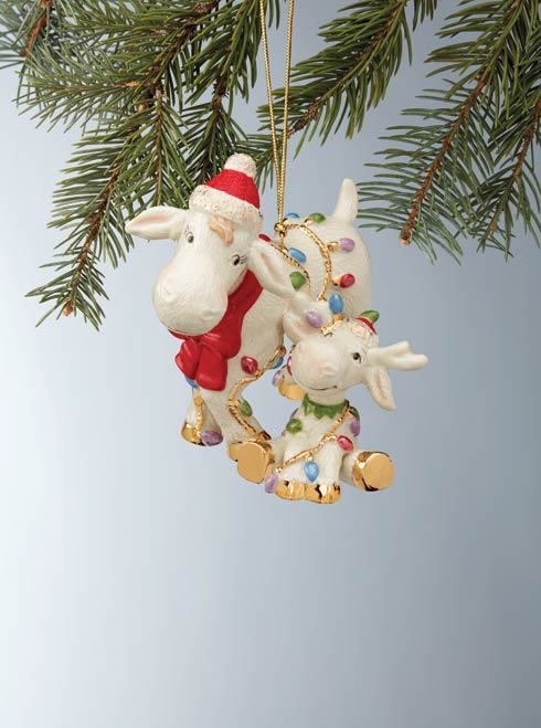$29.95 Marcie And Baby Moose Ornament