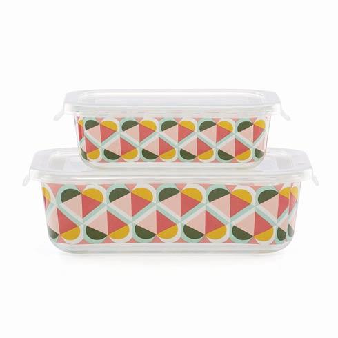 Kate Spade  Geo Spade Rectangular Food Storage, Set of 4 $30.00
