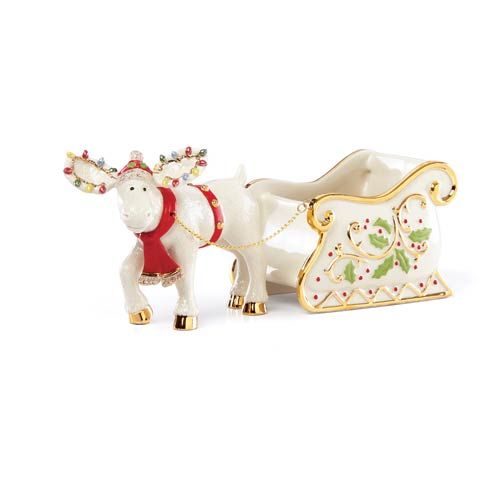 $49.95 Merry Marcel Moose Figural Candy Dish