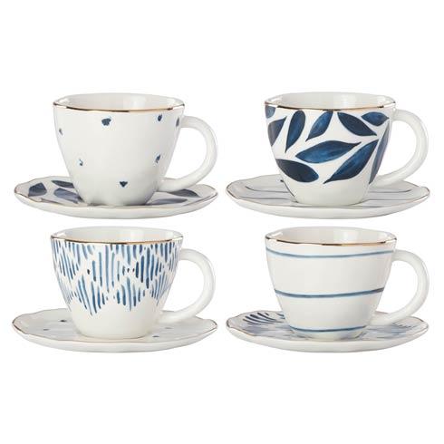 Lenox  Blue Bay 4-piece Espresso Cup & Saucer Set $86.00
