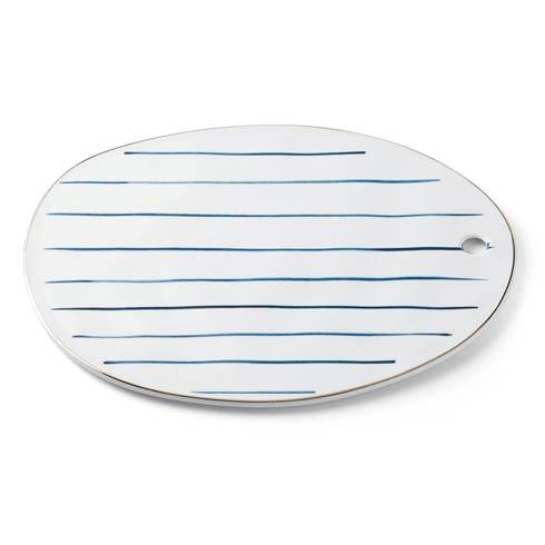 $34.95 Stripe Oblong Tray