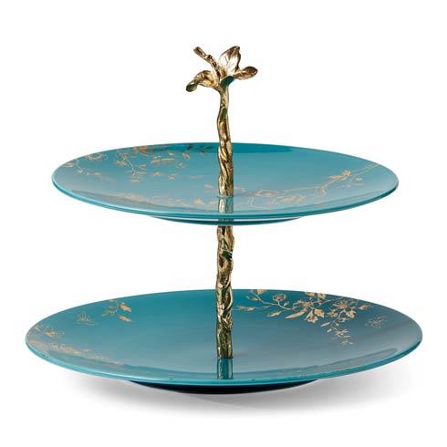Lenox Sprig & Vine Turquoise Tiered Server $69.95