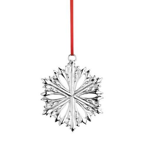 Silver Snowflake Silverplate Ornament